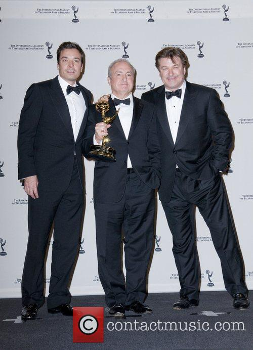 Jimmy Fallon, Alec Baldwin and Lorne Michaels 2