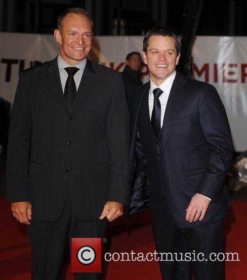 Francois Pienaar and Matt Damon 'Invictus' UK premiere...