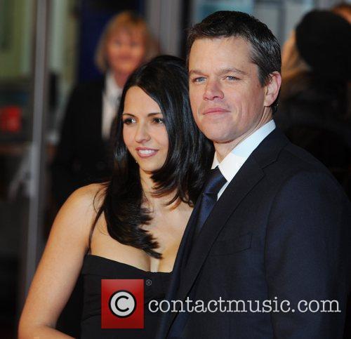 Matt Damon and wife Luciana Bozan Barroso 'Invictus'...
