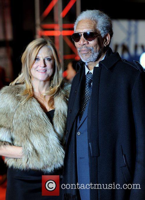 Morgan Freeman and Lori McCreary 'Invictus' UK premiere...