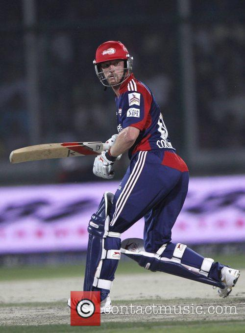 Delhi Daredevils player Paul Collingwood  during the...