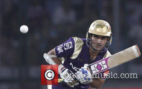 Kolkata Knight Riders captain Sourav Ganguly  during...