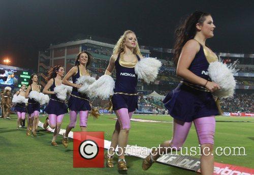 Kolkata Knight Riders cheerleaders  during the Delhi...
