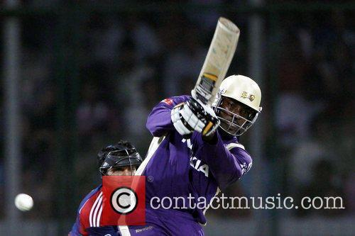 Kolkata Knight Riders player Chris Gayle during the...