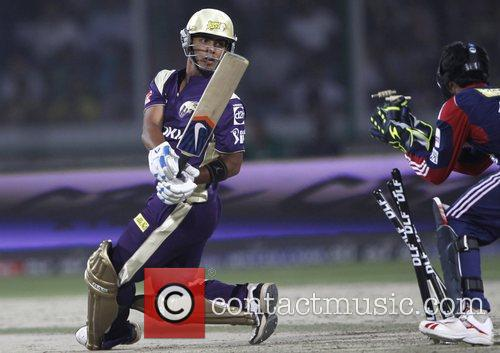 Kolkata Knight Riders player Mandeep Singh is run...