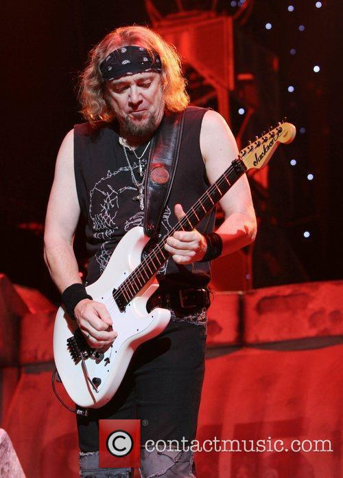 Adrian Smith Iron Maiden performing at Madison Square...