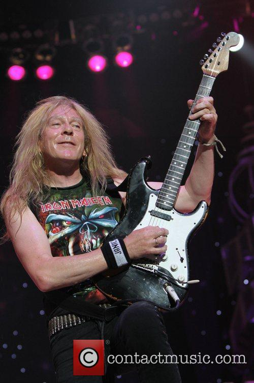 Dave Murray Iron Maiden performing at Madison Square...