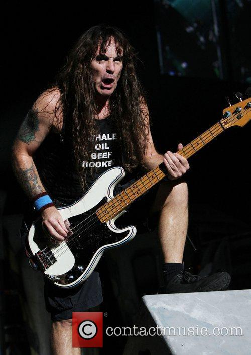 Steve Harris Iron Maiden performing at Madison Square...
