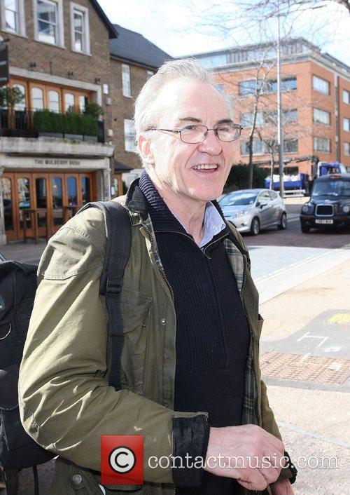 Larry Lamb outside the ITV studios London, England