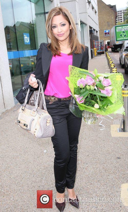 Tasmin Luciakhan leaving the ITV Studios on the...