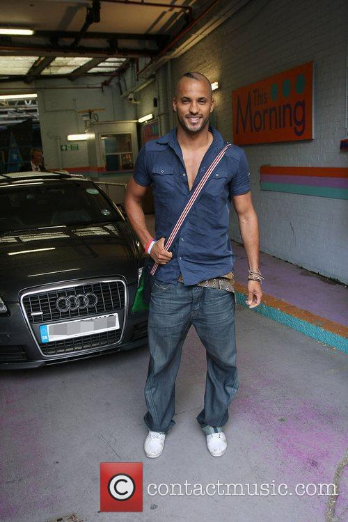 Ricky Whittle outside the ITV studios London, England