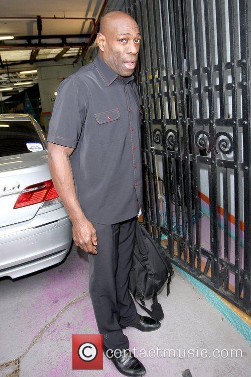 Former English boxer outside the ITV studios