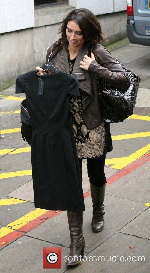 Christine Bleakley outside the ITV studios London, England
