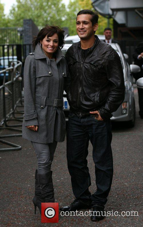 Flavia Cacace and Jimi Mistry outside the ITV...