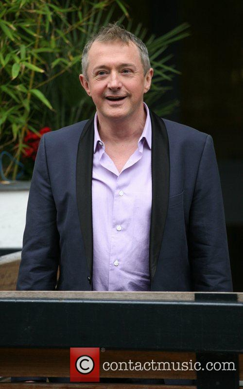Louis Walsh outside the ITV studios London, England
