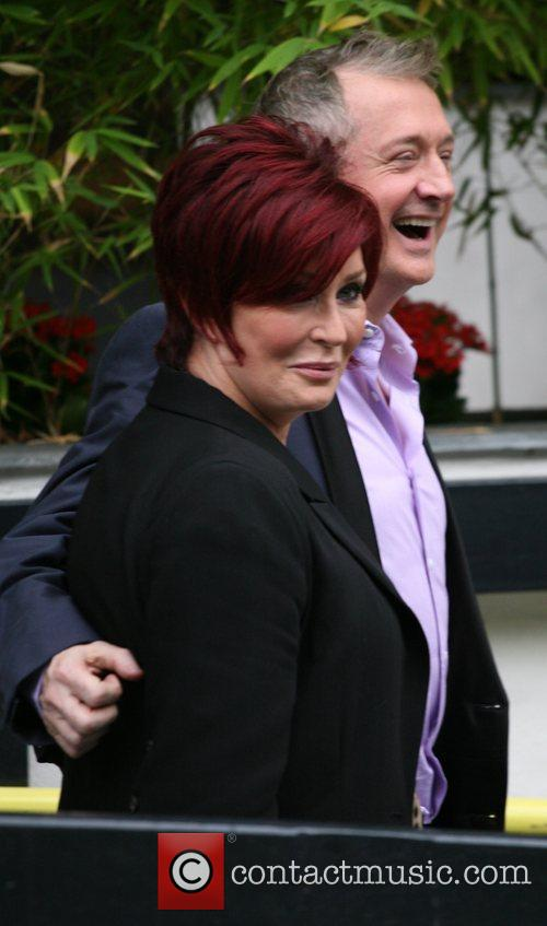 Sharon Osbourne and Louis Walsh outside the ITV...