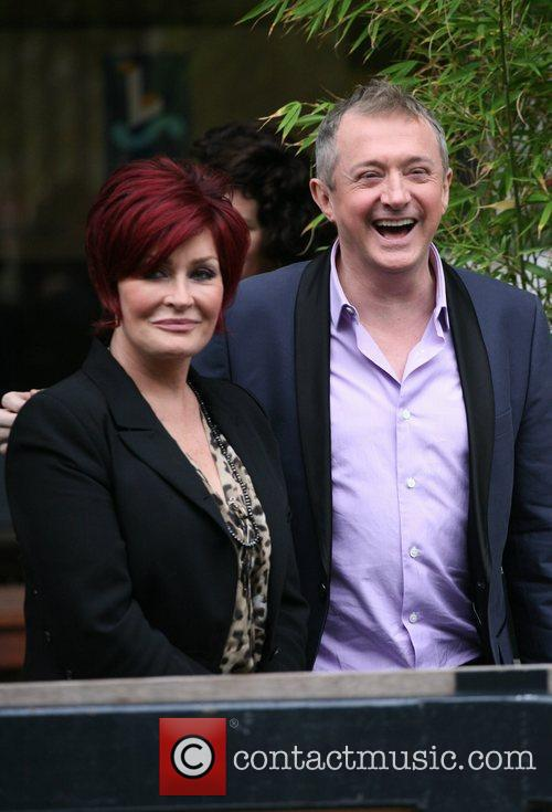 Sharon Osbourne and Louise Walsh outside the ITV...