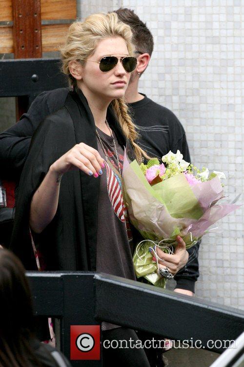 Kesha aka Ke$ha outside the ITV studios London,...