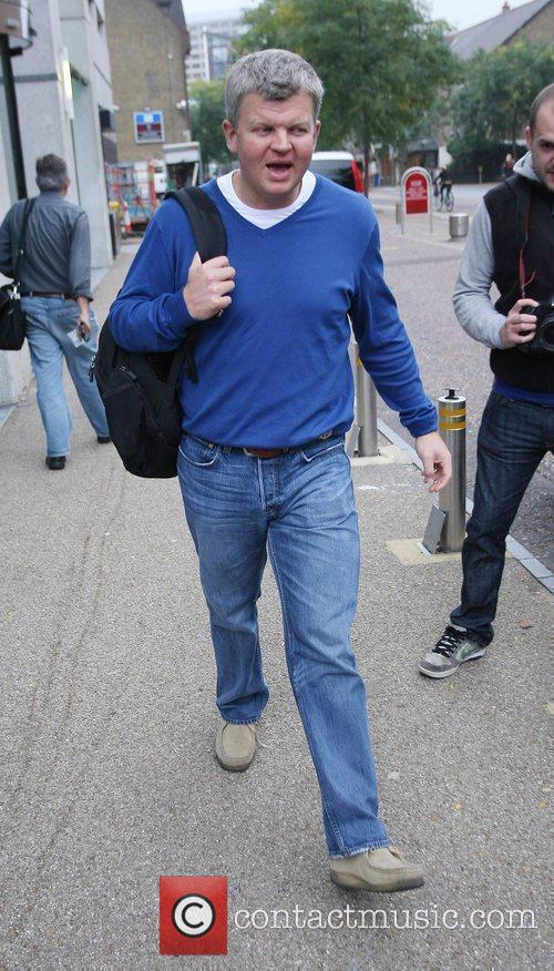 Adrian Chiles leaving the ITV studios London, England