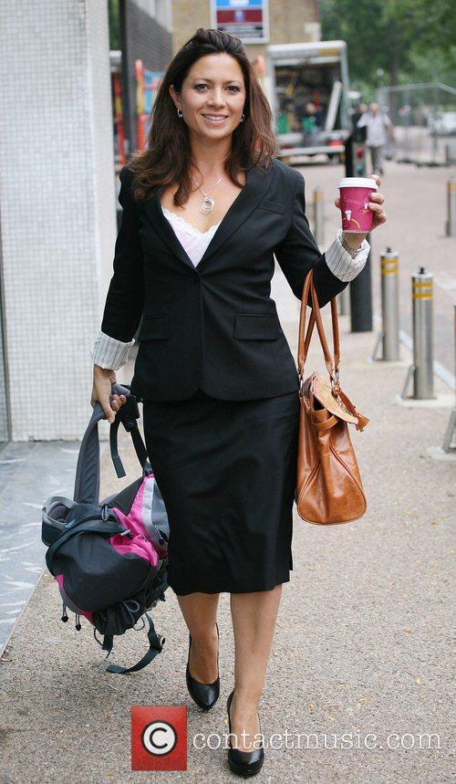 Clare Nasir leaving the ITV studios London, England