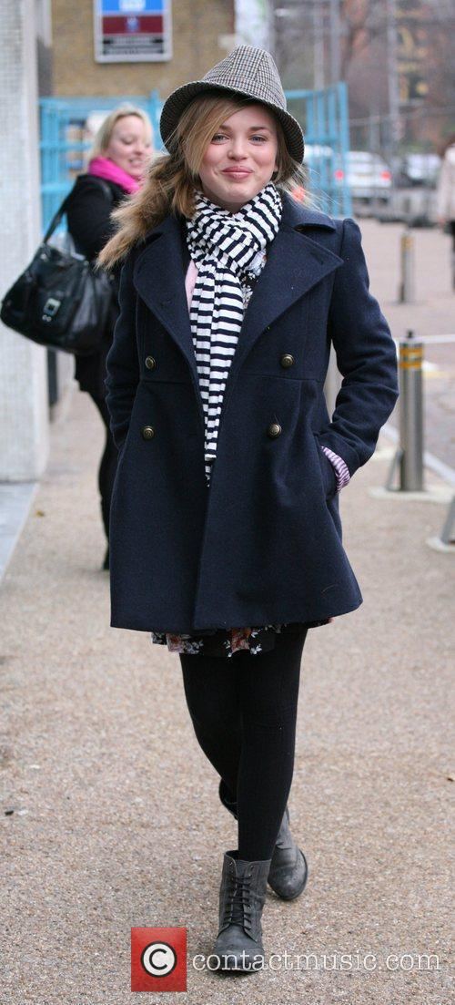 Isabel Suckling outside the ITV studios London, England
