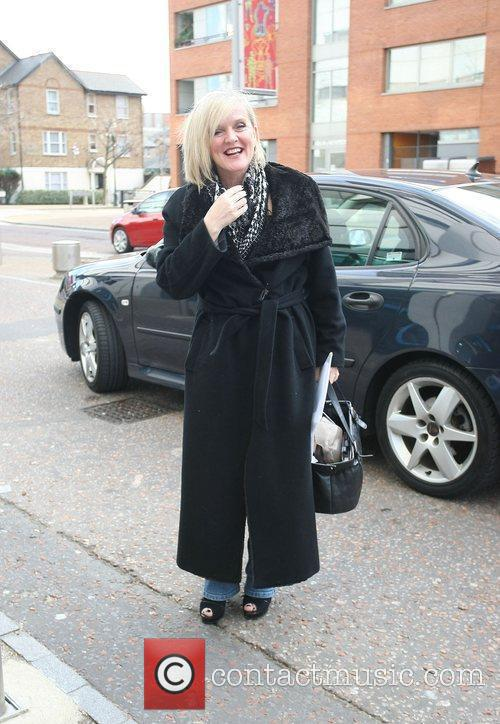 Bernie Nolan outside the ITV studios London, England