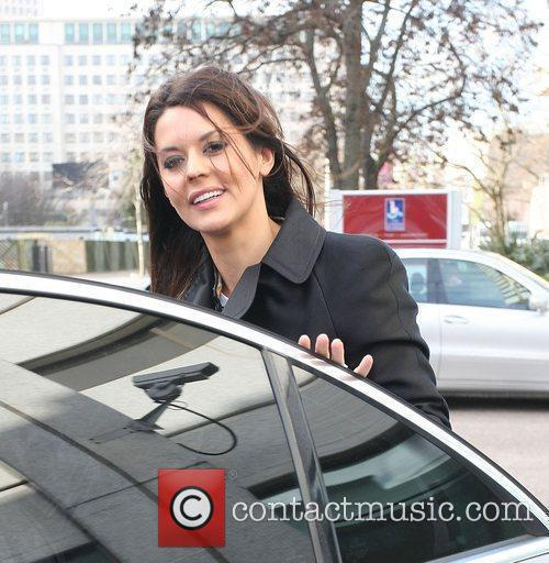 Danielle Bux outside the ITV studios London, England