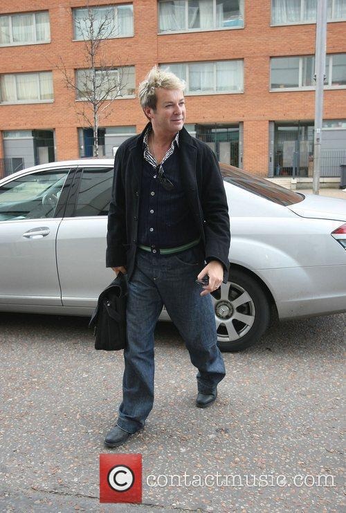 Julian Clary outside the ITV studios London, England