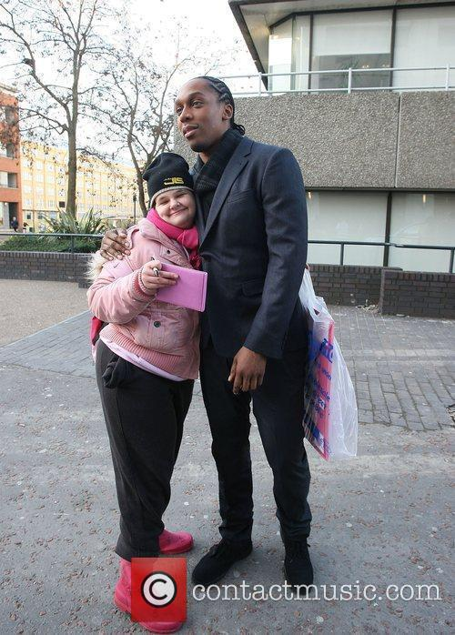 Lemar and Tania McIntosh outside the ITV studios...
