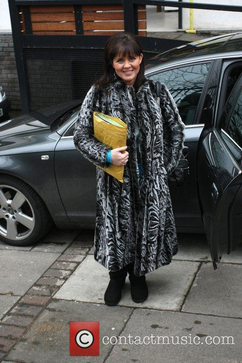 Coleen Nolan arriving outside the ITV studios in...