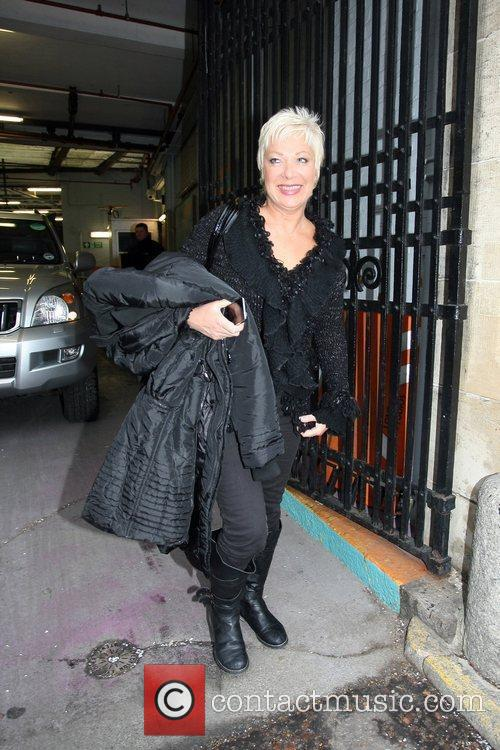 Denise Welch leaving the ITV studios in central...