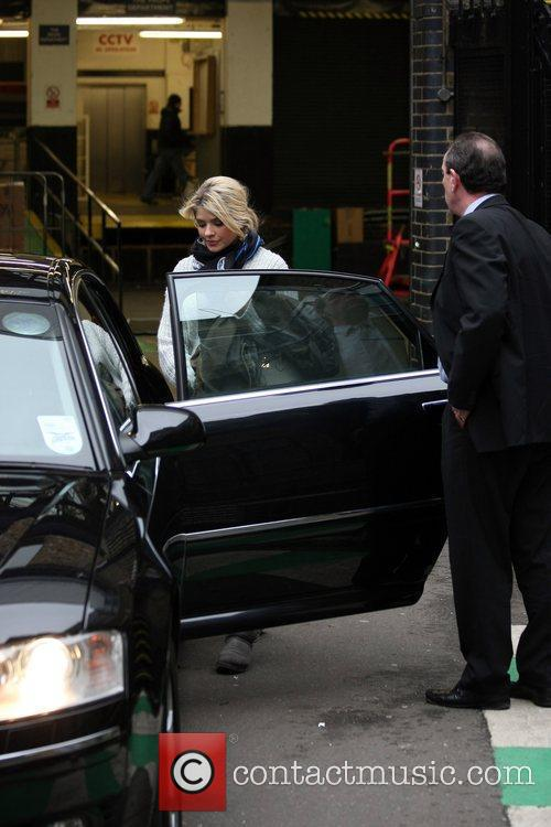 Leaving the ITV studios in central London.