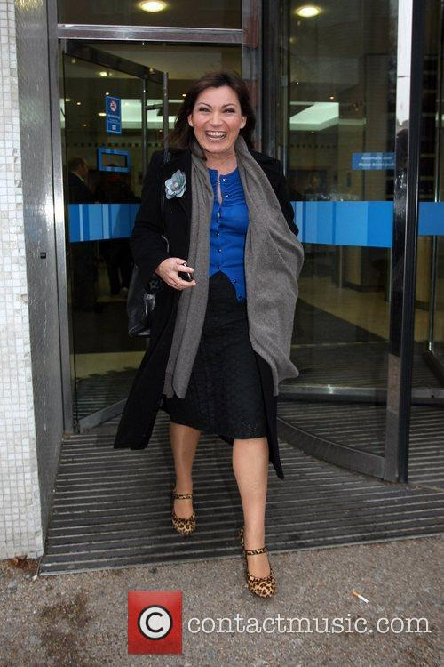 Lorraine Kelly leaving the ITV studios in central...