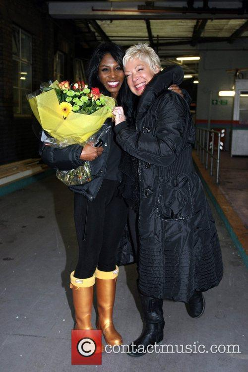 Sinitta Renet Malone and Denise Welch leaving the...
