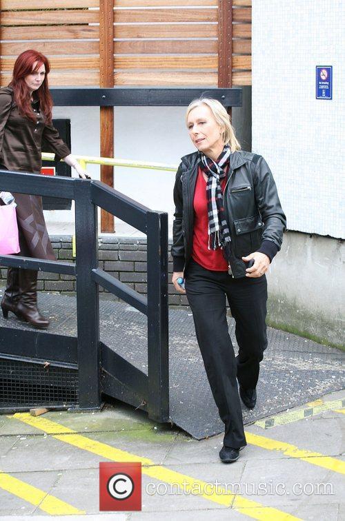 Martina Navratilova outside the ITV studios London, England