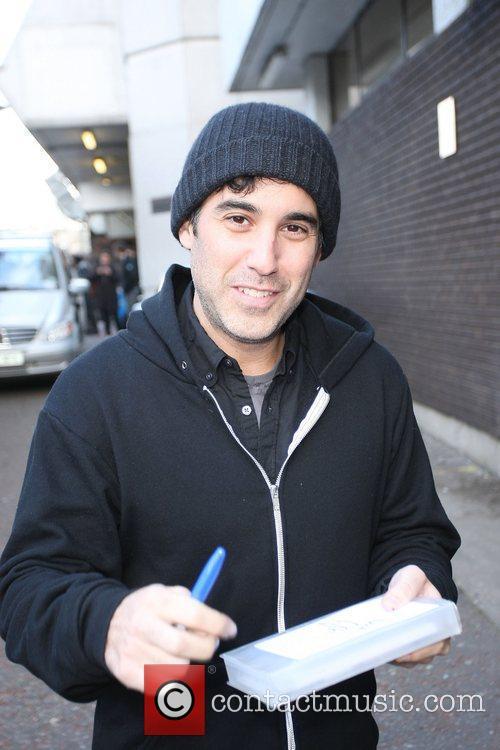 Joshua Radin outside the ITV studios London, England