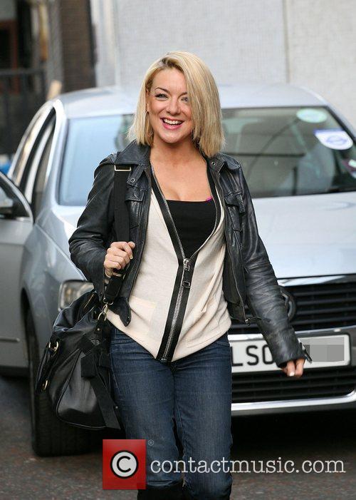 Sheridan Smith outside the ITV studios London, England