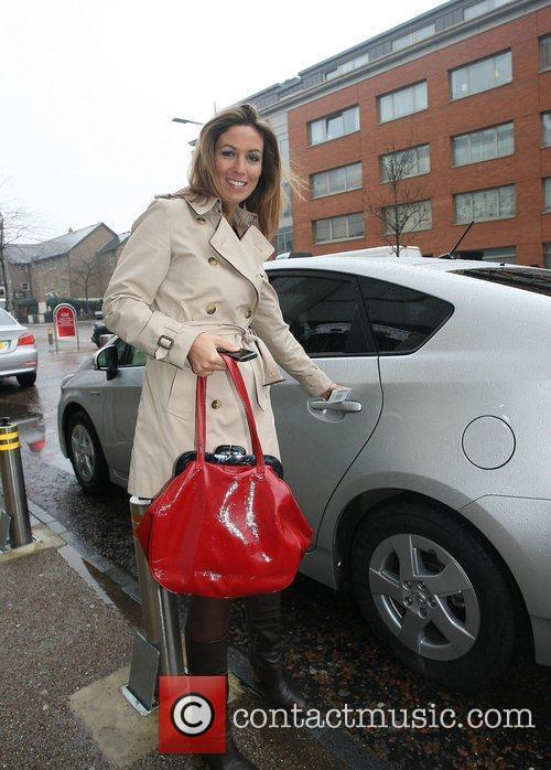 Emma Crosby leaving the ITV studios London, England