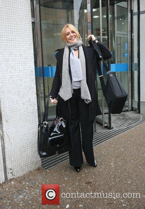 Helen Fospero leaving the ITV studios London, England
