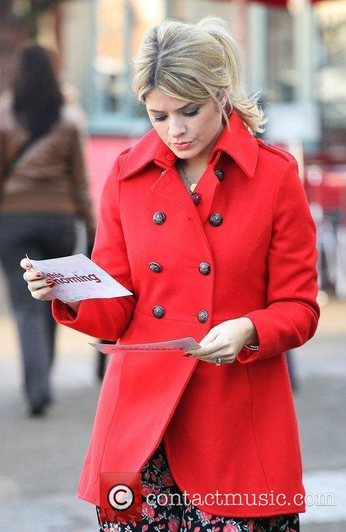 Holly Willoughby outside the ITV studios London, England