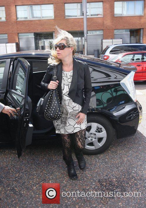 Denise Van Outen outside the ITV studios London,...