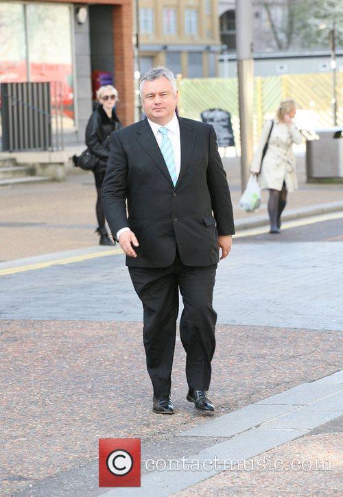 Eamonn Holmes outside the ITV studios London, England