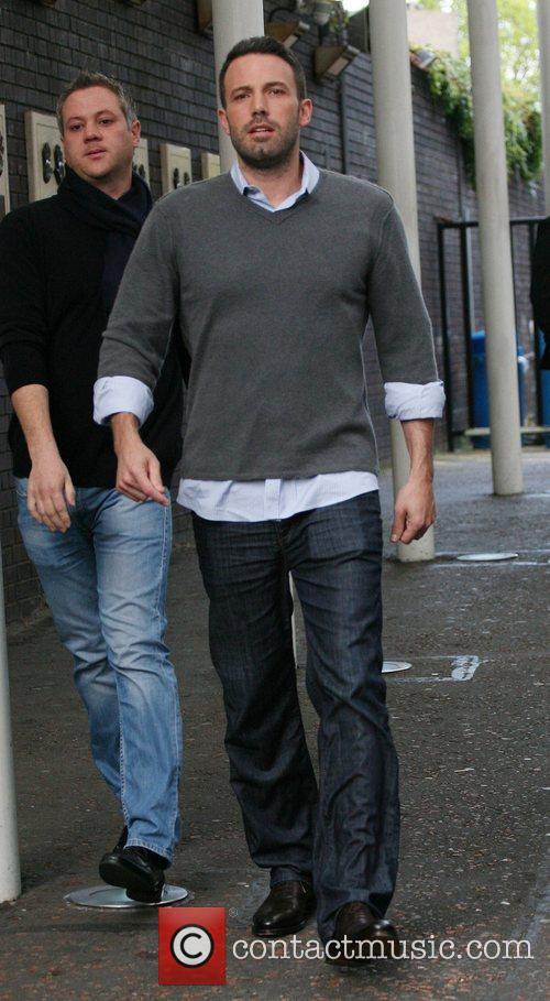 Ben Affleck outside the ITV studios London, England