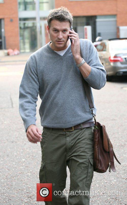 Dan Lobb outside the ITV studios London, England