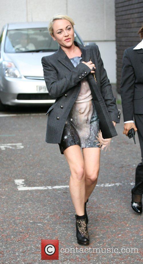 Jaime Winstone outside the ITV studios London, England