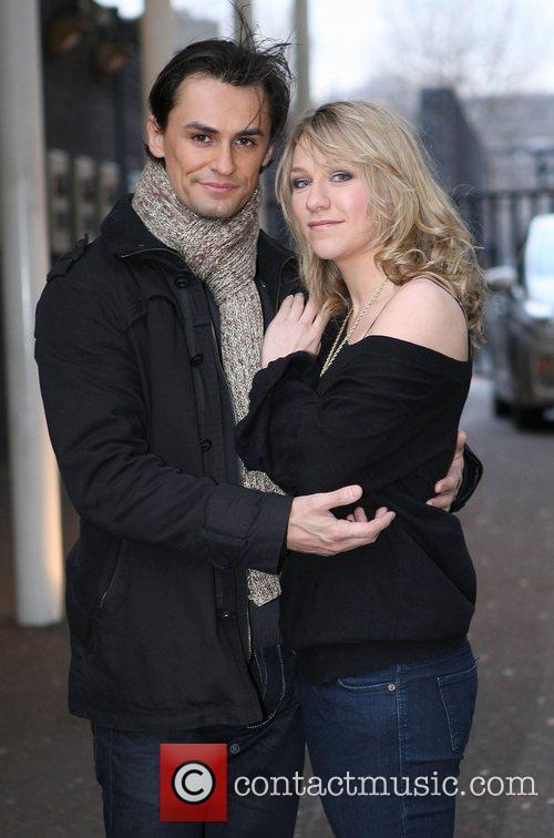 Chloe Madeley and Michael Zenezini at the ITV...