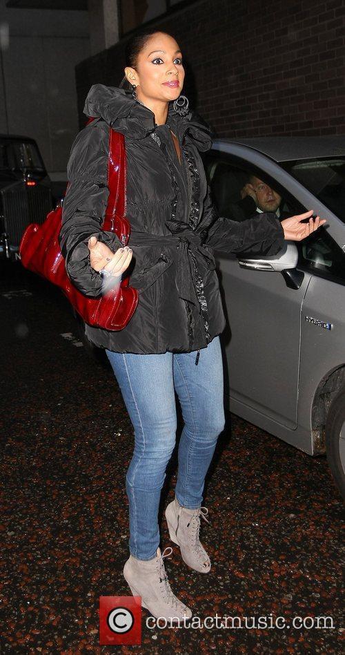 Alesha Dixon outside the ITV Studios London, England