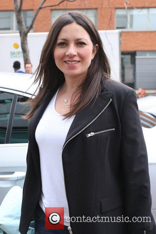 Clare Nasir outside ITV studios London, England