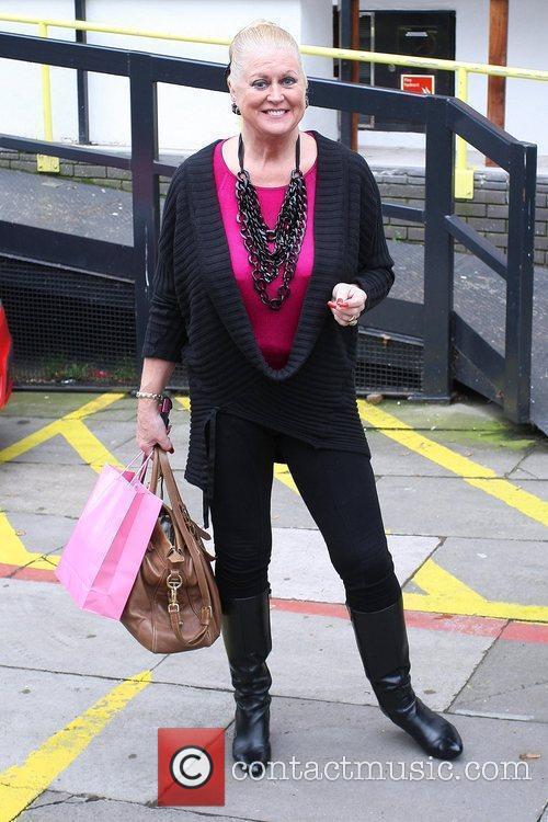 Kim Woodburn outside ITV studios London, England