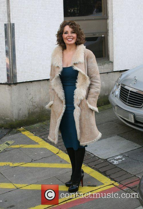 Carol Vorderman outside the ITV studios London, England